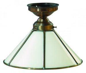 Deckenleuchte Glasschirm weiß Kegel 19 cm