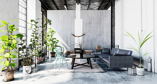 Loft Wohnbereich
