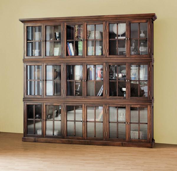 CLEVELAND Bücherschrank Walnussbraun 240 cm