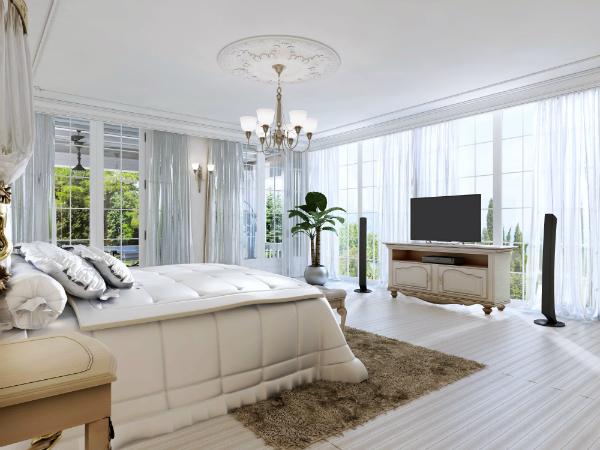 Großes barockes Schlafzimmer