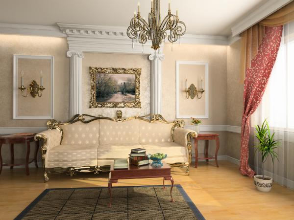 Luxuriöses Interieur im Rokoko-Stil