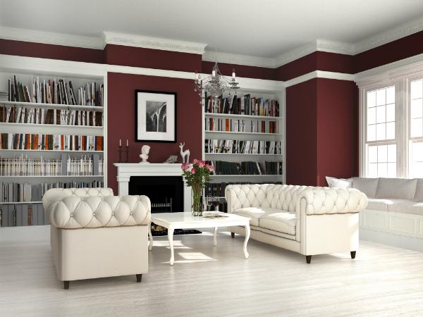Stilmöbel für die ansprechend gestaltete Heimbibliothek