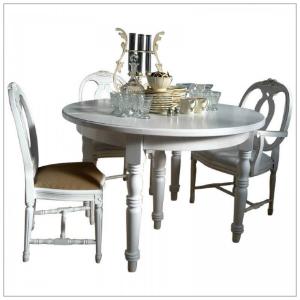DEJA Tisch rund 120 cm ausziehbar mit Einlegeplatten