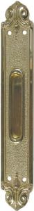 Schiebetuermuschel Messing poliert 45x290 mm