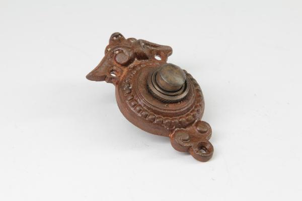 Tuerklingel Eisen antik mit Klingeltaster