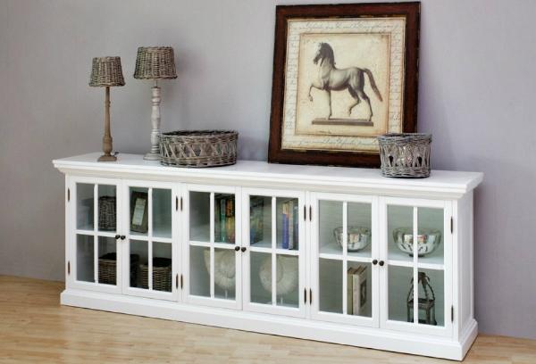 CLEVELAND 160cm Lowboard Sideboard weiß