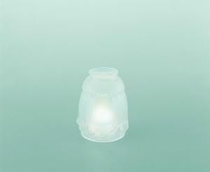 Lampenschirm aus Glas Glasschirm Grau satiniert Hoehe 12 cm