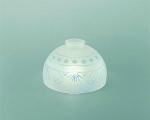 Lampenschirm aus Glas Glasschirm Kristallschliff Durchmesser 18 cm