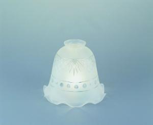 Lampenschirm aus Glas Glasschirm Kristallschliff Durchmesser 19 cm