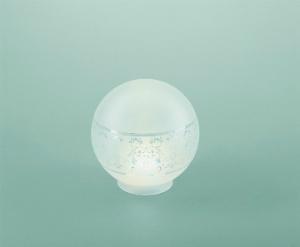 Lampenschirm aus Glas Glasschirm geaetztes Dekor Durchmesser 15 cm