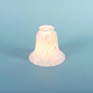 Lampenschirm aus Glas Glasschirm marmoriert Durchmesser 14 cm