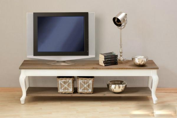 Langer Fernsehtisch FRANCE 165x45 cm mit Eichenplatte