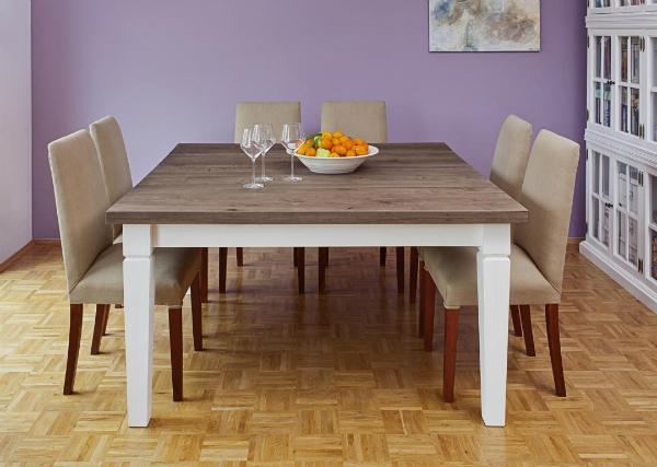 Dinnertafel SOPHIE Tischplatte aus Eiche 150x150 cm
