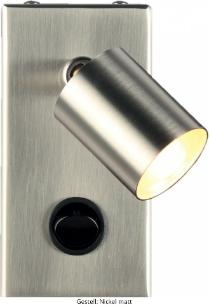 LED Wandleuchte Gestell Nickel matt LD_0014