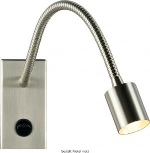 LED Wandleuchte Gestell Nickel matt LD_0015