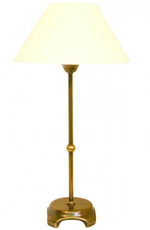 Simsleuchte Schirm Stoff Beige rund Hoehe 34 cm