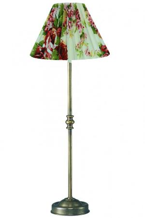 Simsleuchte Schirm Stoff Rosen rund plissiert Hoehe 47 cm