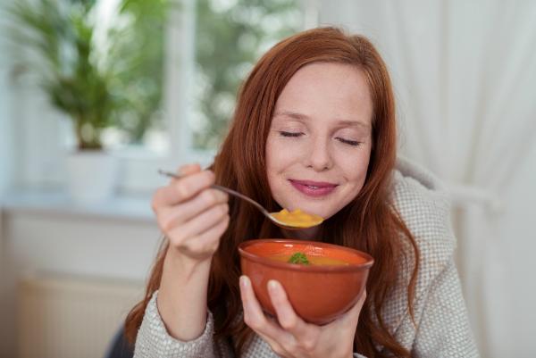 Suppe zum Aufwaermen