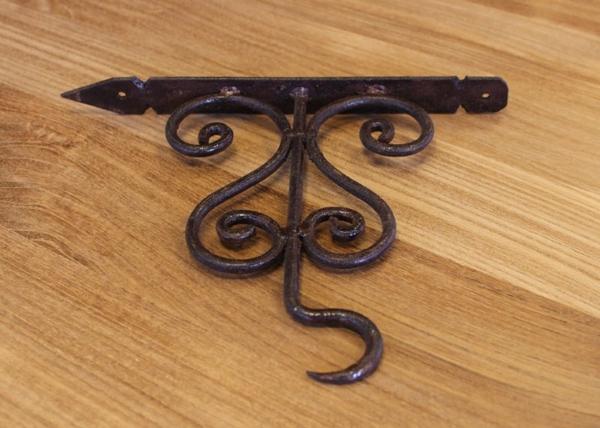 Wandhaken Blumenampel Eisen rostig