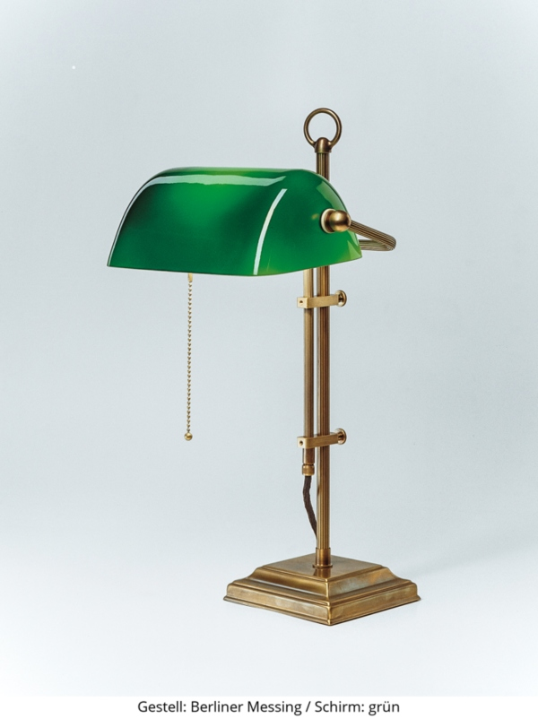 baenkerlampe-w2-gestell-berliner-messing-schirm-gruen