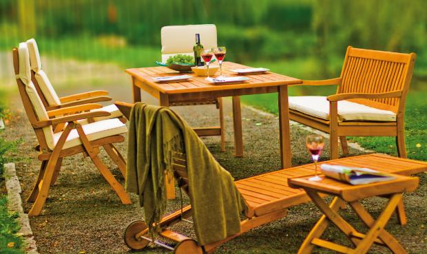 Gartenstuhl mit verstellbarer Rückenlehne (Kansas)
