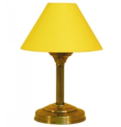 tischleuchte-textilschirm-gelb-rohr-gerieft