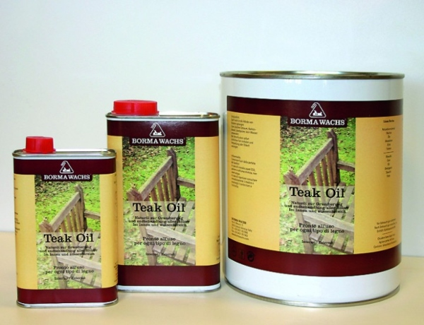 TEAK OIL Fuer Innen und Aussenbereich Naturholzeffekt