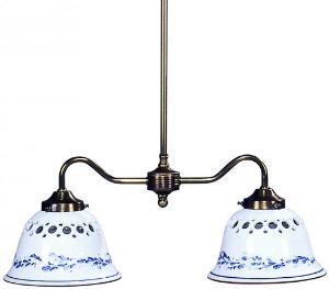 Keramikleuchte - Deckenleuchte weiß-blau