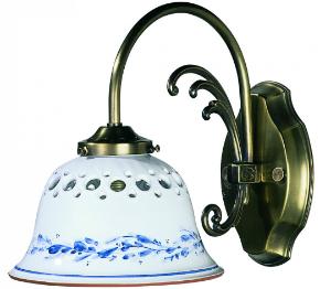 Keramikleuchte - Wandleuchte weiß-blau