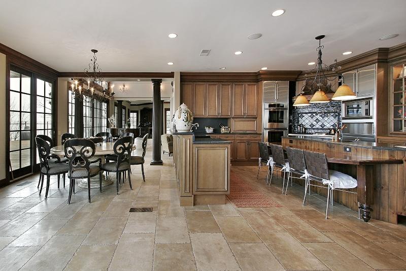 Blue Grey Kitchen Floor Tiles
