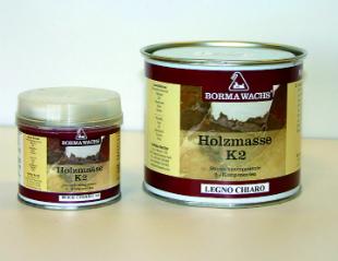 Holzmasse K2 - Zweikomponenten Holzkitt für Innen und Außen - 750 ml