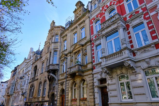 Gründerzeit Häuserfassade