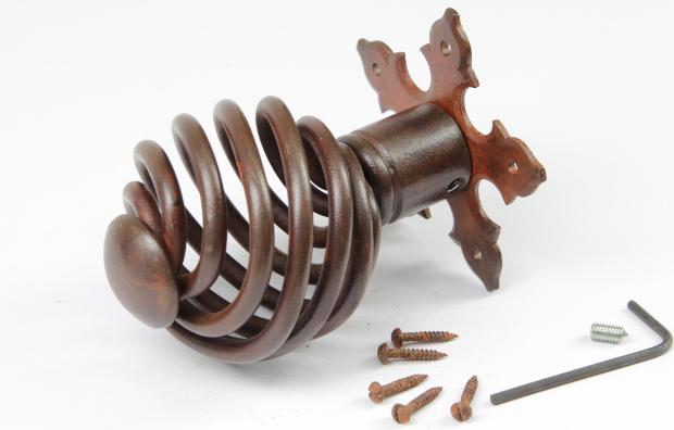 Barocker Türknauf aus massivem Eisen
