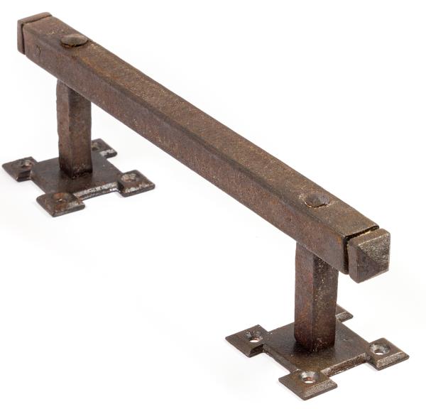 Türgriff aus massivem Eisen antik patiniert