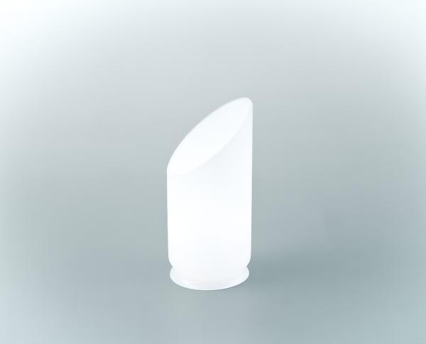 Glasschirm 143 Opalweiß