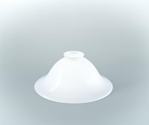 Glasschirm 22 Opalweiß