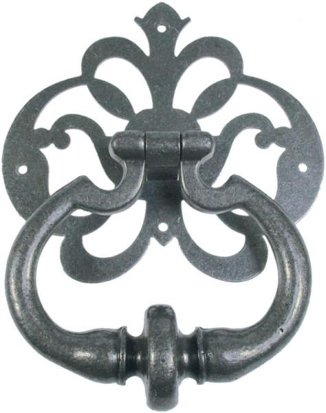 Türklopfer aus massivem Eisen altgrau