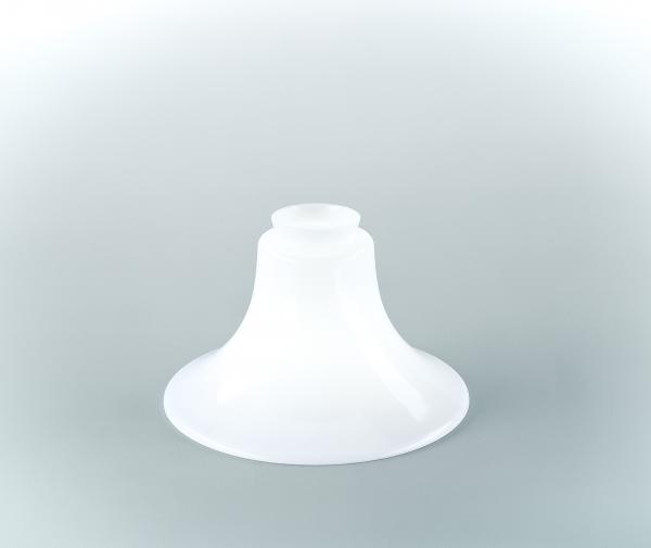 Glasschirm 41 Opalweiß