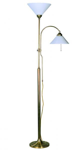 Stehleuchten - Glasschirm weiß