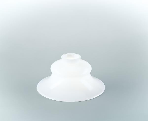 Glasschirm 29 Opalweiß