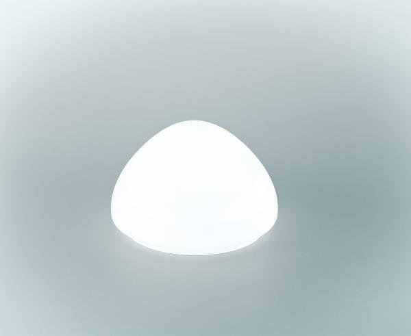 Glasschirm 129 Opalweiß