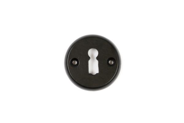 Schlüsselrosette Buntbart Eisen schwarz pulverbeschichtet