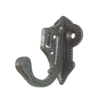 Garderobenhaken Eisen, antik-schwarz lackiert