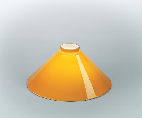 Glasschirm 25 Cognac