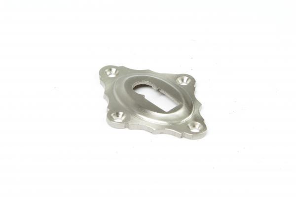 Schlüsselrosette Nickel matt Buntbart