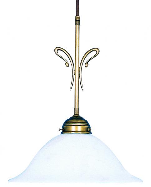 Pendelleuchte - Glasschirm weiß