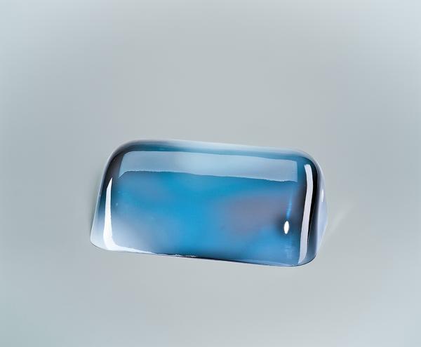 Glasschirm 99 Blau