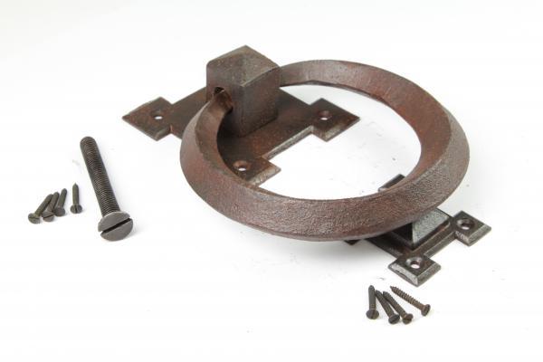 Türklopfer Ring aus massivem Eisen antik patiniert