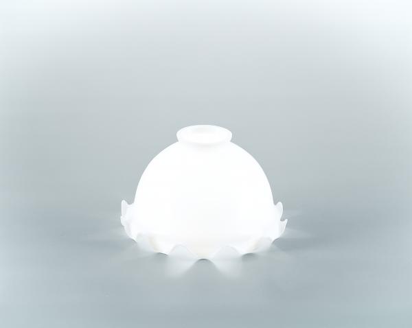 Glasschirm 16op Opalweiß