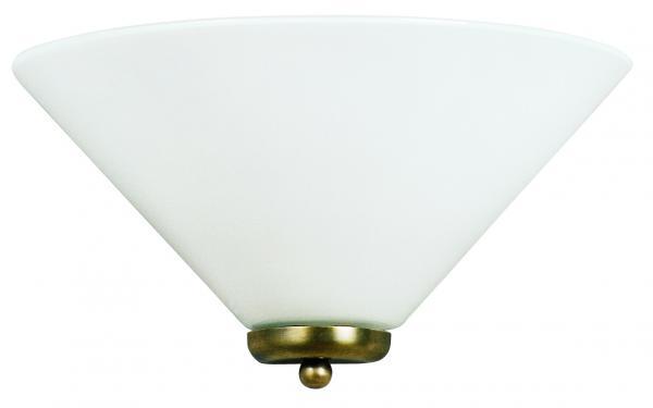 Wandleuchte - Glasschirm weiß